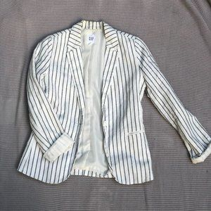 GAP Retro Vintage Striped Blazer Baseball Stripes